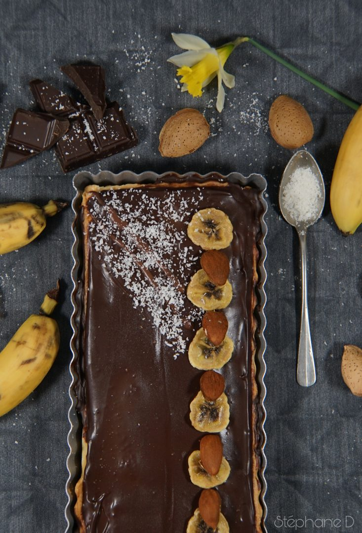 TARTE CHOCOLAT BANANES COCO 5