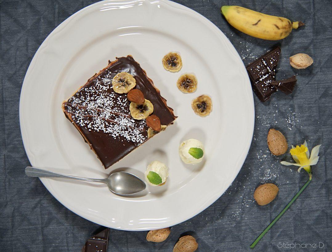 TARTE CHOCOLAT BANANES COCO 6