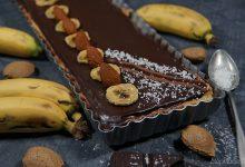 Photo de TARTE CHOCOLAT BANANES COCO