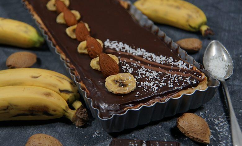 Tarte chocolat bananes coco