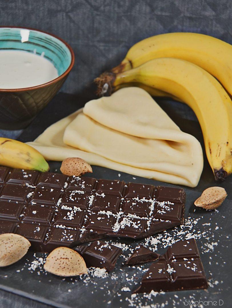 TARTE CHOCOLAT BANANES COCO 1