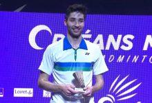 Tomy Popov offre à la France son premier simple messieurs à l'Orléans Master de badminton. 39