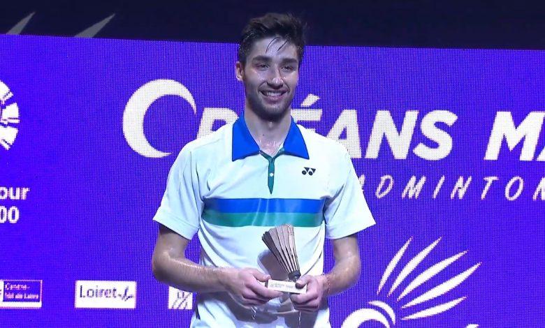 Tomy Popov offre à la France son premier simple messieurs à l'Orléans Master de badminton. 1