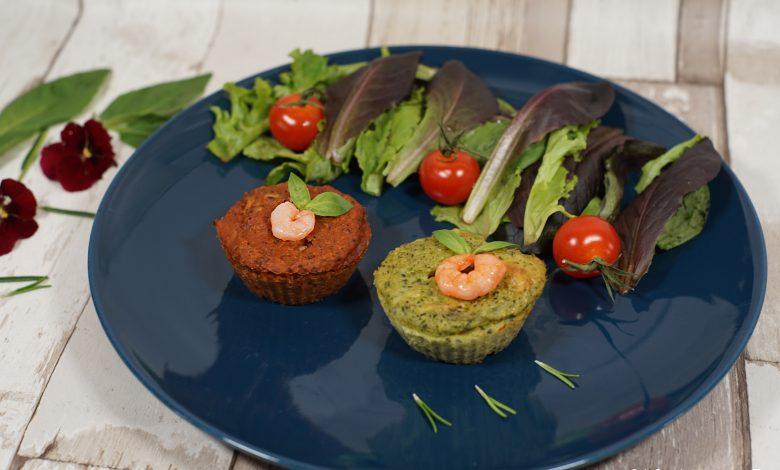 Moelleux courgettes tomates basilic crevettes et coeur fondant au fromage 1