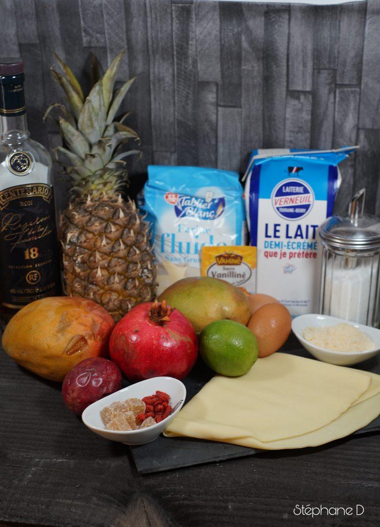 Tarte exotique mangue ananas