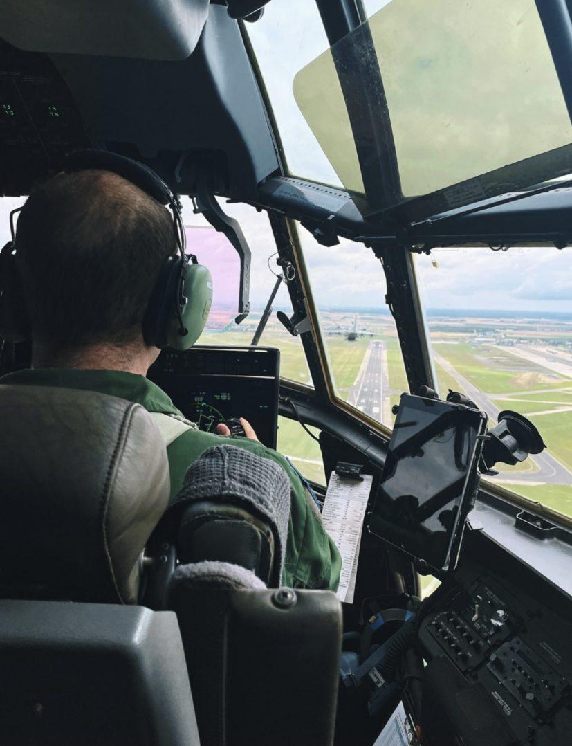 A bord du C-130J pour le défilé du 14 juillet. 15