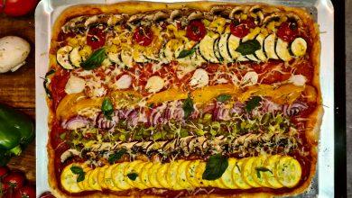 Pizza aux légumes de saison