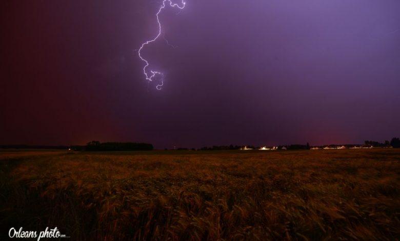 Images du jour : Passage d'un orage cette nuit sur l'orléanais 1