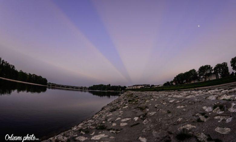 Images du jour : Rayon laser ? Non, coucher de soleil rayonnant ... 1